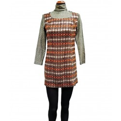 70's laminated dress