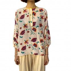 Escada blouse with flowers