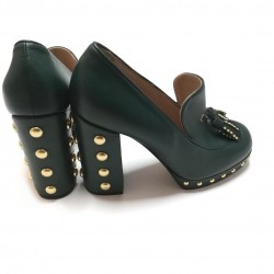 Pinko deep green shoes