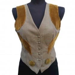 Moschino wool and velvet gilet