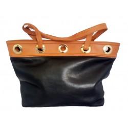 Genny black leather...