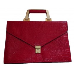 Vintage red leather reptil...