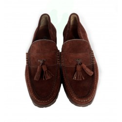 Bally brown leather mocassins