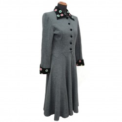 Vintage gray wool dress