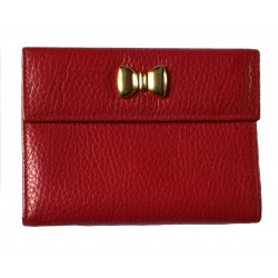 Furla 80's red leather wallet.