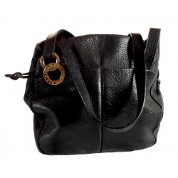 Paolo Masi black leather bag.