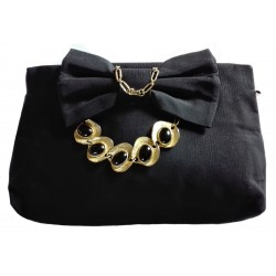 Pochette with bow & golden...