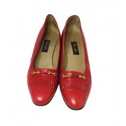 Vintage mocassins red leather
